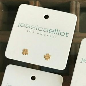Just in! USA Made 14K Gold Clover Earrings